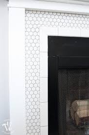 i love this vintage inspired farmhouse fireplace diy your own fireplace with new white hexagon