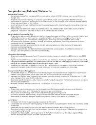 Sample Resume Accomplishments Gallery Creawizard Com