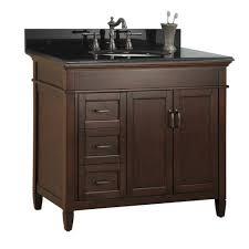 estates 37 in vanity in rich mahogany with granite vanity top in black pe 585176