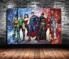 justice league posters hd canvas print