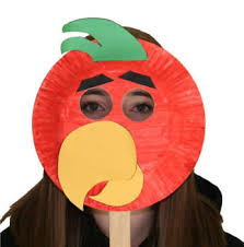 How To Make Face Mask From Chart Paper Paper Plate Parrot Craft
