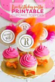 Free Monogram Printable Cupcake Toppers Printable Crush