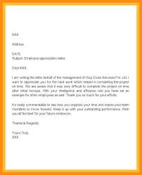 Letter Of Recognition Examples Employee Recognition Letter Example Employee Recognition