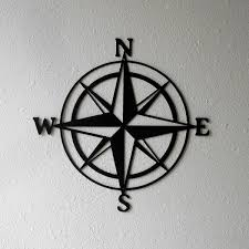 compass design laser cut steel reusable compass design wall art black home decor