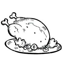 Small Picture Cooked Chicken Coloring Page