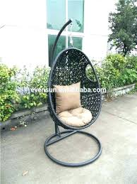 rattan hanging chair outdoor wicker bubble egg suppliers with stand