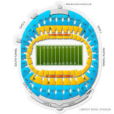 Liberty Bowl Seating Chart Liberty Bowl Stadium 2019 Seating Chart