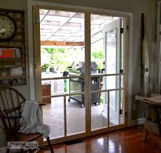 French Door Opening How To Screen French Doors For Only 35 Each Funky Junk