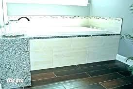 garden tub wall surround mosaic tile bathtub ideas surrounds bathroom looks like home s