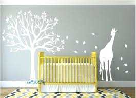 tree wall decal white decals nursery stencil zoom palm