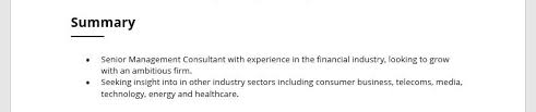 Consultant Cv Management Consultant Cv Examples Ascent Professional Services