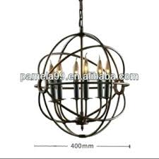 very large light wrought iron orb chandelier wonderful