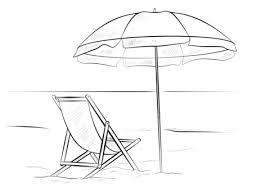 Strandstoel En Parasol Kleurplaat Gratis Kleurplaten Printen