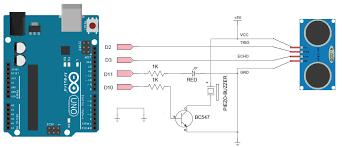 fritzing project proximity sensor ultrasonic fritzing repo projects p proximity sensor ultrasonic