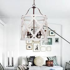 jolette 4 light wood chandelier antique white
