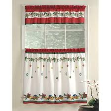 Lorraine Home Fashions Gift Box Tier and Valance Set, 36-Inch, Multicolored