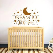 dream big little one wall decal dream big little one es wall decal nursery wall sticker dream big little one wall