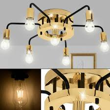 Luxus Decken Leuchte Ess Zimmer Beleuchtung Lampe Gold