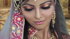 gold and peach mehndi makeup tutorial indian bridal asian arabic stani beautiful look