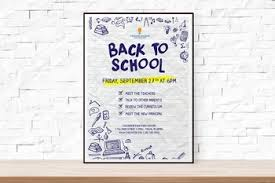 Back To School Or Open House Event Flyer Template For Schools By