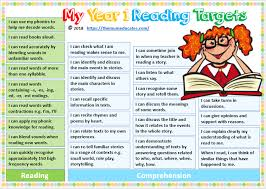 Our free phonics worksheets are great for everybody! Free Year 1 Reading Targets The Mum Educates