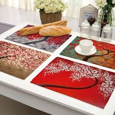 Us 224 35 Offoil Painting Table Placemat For Kitchen Table Heat Resistant Anti Slip Waterproof Dining Table Mat Bowl Coaster Tableware Pad In Mats