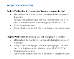 Projects On Resume How To Write A Great Data Science Resume