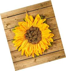 21 sunflower wall decor country rustic primitive burlap wall hanging wreath