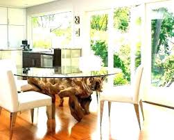 tree trunk dining table with glass top dining glass top dining table with tree trunk base uk
