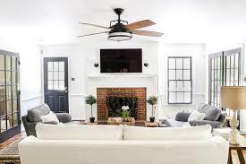 Bedroom ceiling fans Guest Bedroom Living Room Update Ceiling Fan Swap Blesserhousecom Bland Boring Hgtvcom Living Room Update Ceiling Fan Swap Blesser House