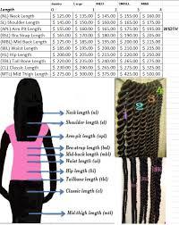 Waist Length Box Braids Length Chart