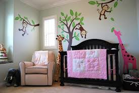 baby m s jungle themed nursery