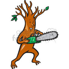 chainsaw clipart. royalty-free tree man chainsaw 388248 vector clip art image - eps, svg, ai, pdf illustration | graphicsfactory.com clipart