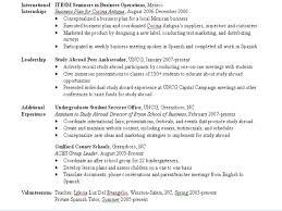 resume interest