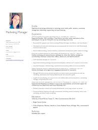 Marketing Manager Template Picture Melody Noel Resume 2013 Pdf
