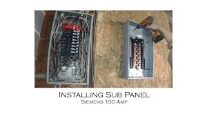 how to install an electric sub panel and tie in to adjacent main Sub Panel Breaker Box Wiring Diagram how to install an electric sub panel and tie in to adjacent main panel from start to finish Basic Electrical Wiring Breaker Box