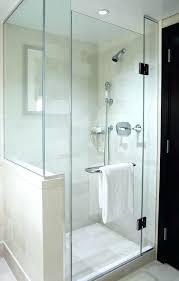 half wall shower enclosure glass doors stud panels bq