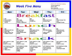 Weekly Food Menu Template (2) | Best Samples Templates