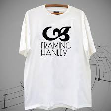 new framing hanley logo american rock band white t shirt tee xs 2xl a shirt a day t shirt from cooltshirts50 11 58 dhgate