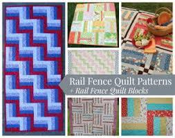 900+ Free Quilting Patterns | FaveQuilts.com & 21 Rail Fence Quilt Patterns & Rail Fence Quilt Blocks Adamdwight.com