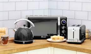 appliances new swan kitchen retro grey 800w 20l digital microwave microwaves