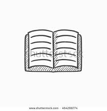 open book vector sketch icon isolated on background hand drawn open book icon open