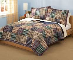 Plaid Patchwork Teen Boy Bedding Twin Full/Queen Quilt Bedding Set ... & Plaid Patchwork Teen Boy Bedding Twin Full/Queen Quilt Bedding Set Brown  Green - Brandon Adamdwight.com