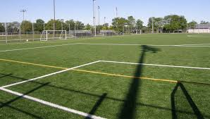 grass soccer field. Soccer Field With Synthetic Turf At Jarry Park, Montréal Grass