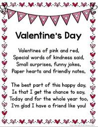 Valentines Day Quotes For Preschoolers Valentines Day Poem Cloze Activity And Minibook English