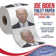 Amazon.com: Joe Biden Toilet Paper Roll - Funny Political Novelty Gag Gift  - 3 Ply Bathroom Tissue 200 Sheets in Each Roll - Laugh Out Loud Joke with  Image Printed on Every