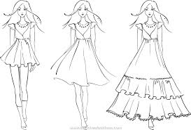 Small Picture How To Draw Childrens Fashion Sketches Coloring Coloring Pages