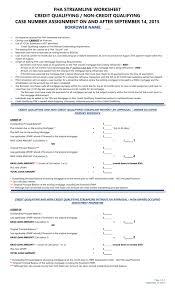 Fha Upfront Mip Refund Chart 2019 Fha Streamline Worksheet Credit Qualifying Non