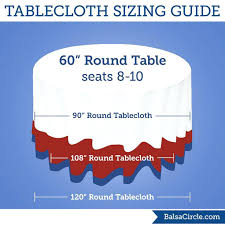 tablecloths for 60 round table tablecloth size for round table