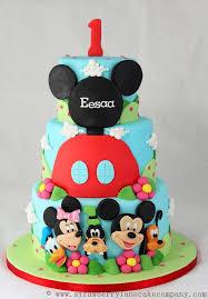 Mickey Mouse Club House 1st Birthday Cake Disney Every Day